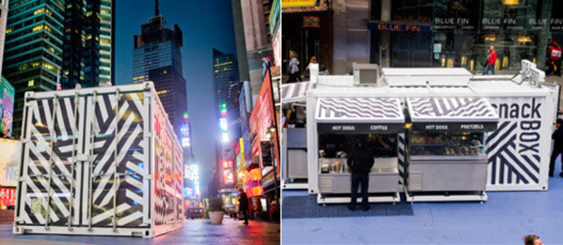 Dossier de presse - Communiqué de presse - SnackBox, Times Square New York - Aedifica