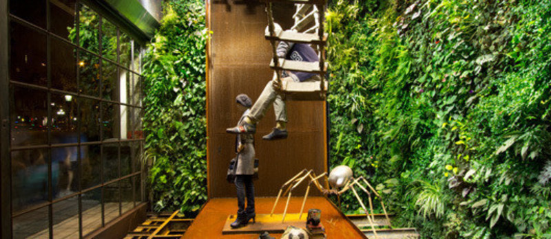 Press kit - Press release - Replay Barcelona - Vertical Garden Design