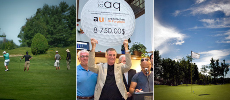 Newsroom - Press release - The golf tournament of the architects of Quebecsupport again the humanitarian work ofEmergency Architects of Canada - Cooperation and Emergency Architects