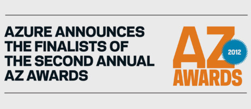 Press kit - Press release - Azure announces the finalists of the second annual AZ Awards - Azure Magazine
