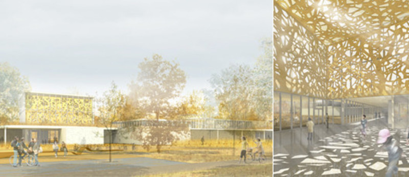 Press kit - Press release - Entry for the competition for the Saint-Laurent Library - Chevalier Morales Architectes / FABG