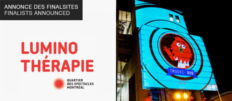 Press kit - Press release - Luminothérapie competition: Finalists announced - Bureau du design - Ville de Montréal