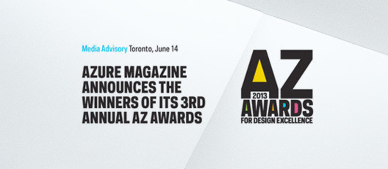 Newsroom - Press release - Azure magazine announces the winners of it's 3rd annual AZ Awards - Azure Magazine
