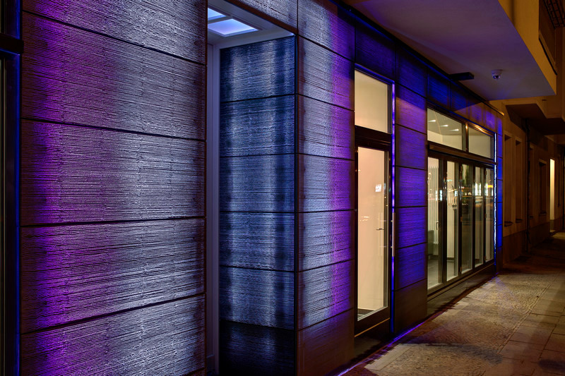 Press kit - Press release - Unique LUCEM light transmitting concrete facade in Berlin - Lucem Lichtbeton