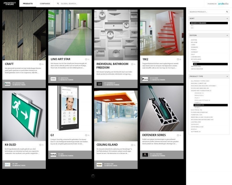 Press kit - Press release - ARCHITECT@WORK partners with Archello for its online product guide - Archello