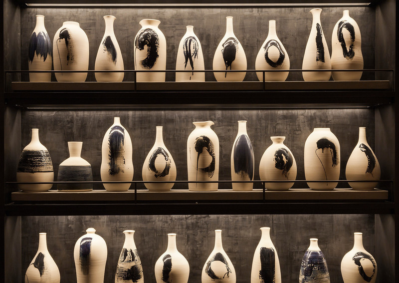 Newsroom - Press release - Ceramic artist Pascale Girardin presents her installations for Nobu Downtown restaurant - Pascale Girardin
