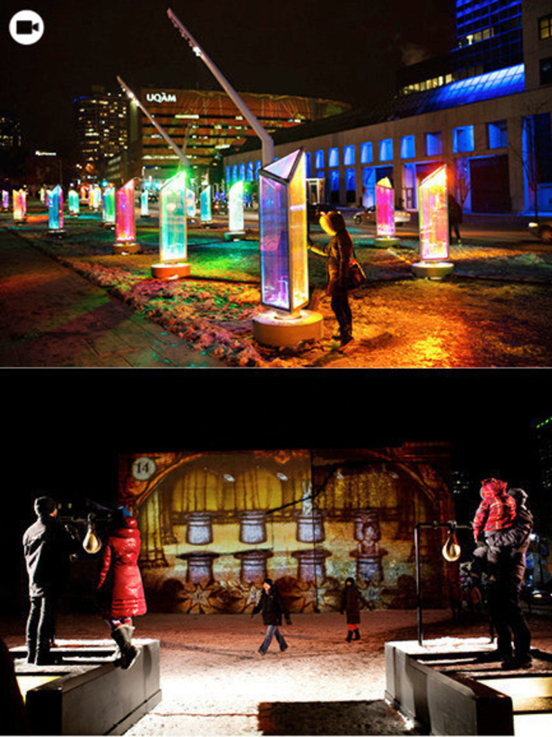 Press kit - Press release - Luminothérapie: interactive and digital public art illuminate winter in Montreal's Quartier des Spectacles - Bureau du design - Ville de Montréal