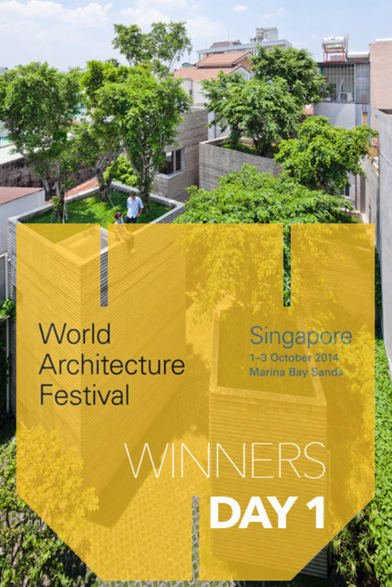 Press kit - Press release - 2014 Winners announced Day one - World Architecture Festival (WAF)